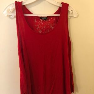 Red Tank with lace back